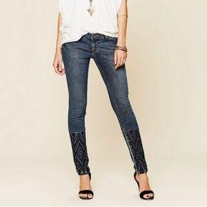 Free People Artisan De Luxe Dreamer Skinny Jeans